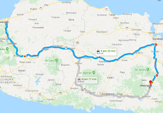 Rute Semarang Malang