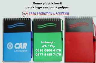 Memo plastik with pen, memo kecil, mini pocket memo, notes imut, buku kecil plastik, Notes Spiral Custom, Memo Spiral Stationery Promosi, notebook murah bisa logo, note memo custom unik