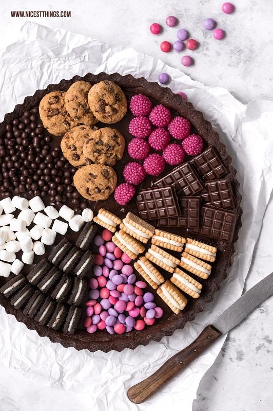 Candy Tarte, Sweets Cake: Tarte mit Süßigkeiten, Oreos, Cookies, Marshmallows