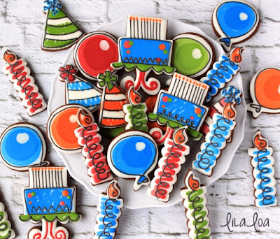 How To Make Decorated Scribble Candle Cookies for Birthdays ~ Tutorial