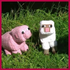 Animales Minecraft amigurumi