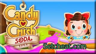 Cheat Candy Crush Soda Saga dengan Xmodgames