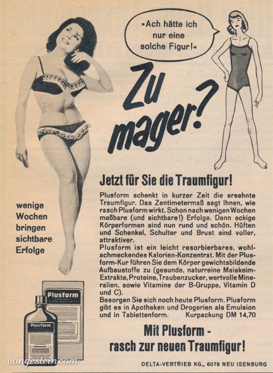 Vongestern Blog Zu Mager Plusform 1967