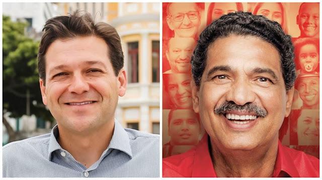 Geraldo Julio tem 54%; João Paulo, 33%