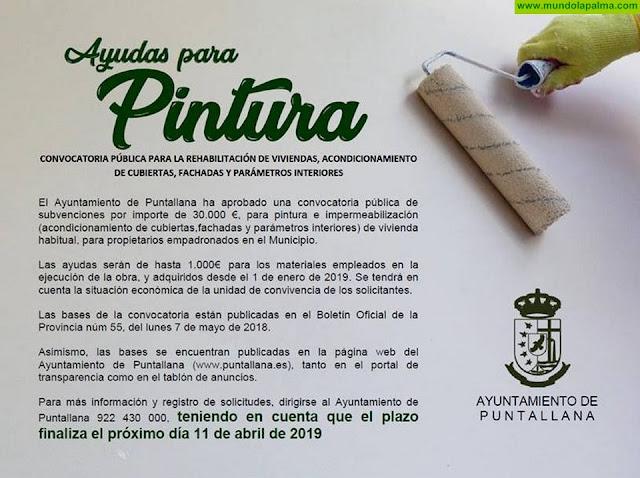 Ayudas para pintura del Ayuntamiento de Puntallana