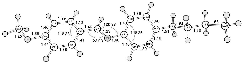 Simple computational chemistry: Correlations between