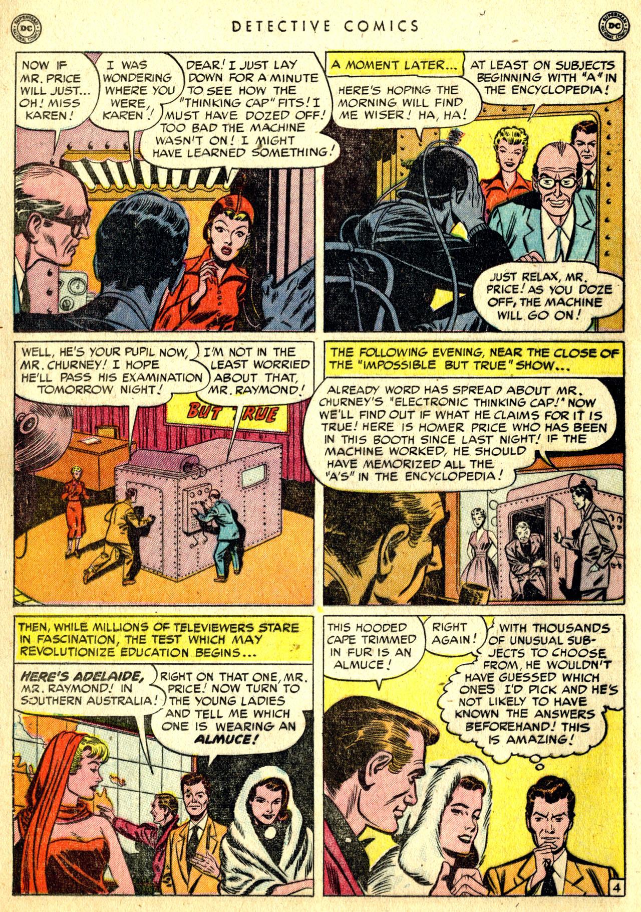 Read online Detective Comics (1937) comic -  Issue #168 - 22