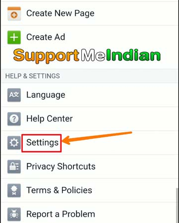 Click facebook settings