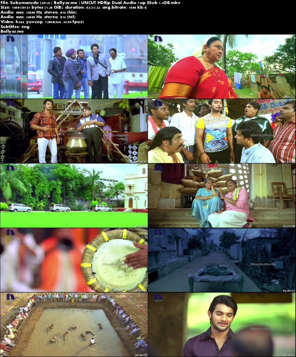 Sukumarudu 2013 HDRip UNCUT Hindi Dubbed Dual Audio 720p ESub Download