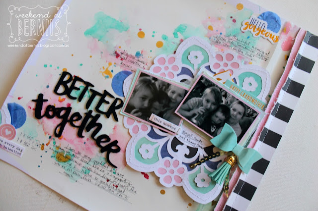 """ Better Together"" layout by Bernii Miller using the Sugar Maple Paper co using the Cake for Breakfast kit."