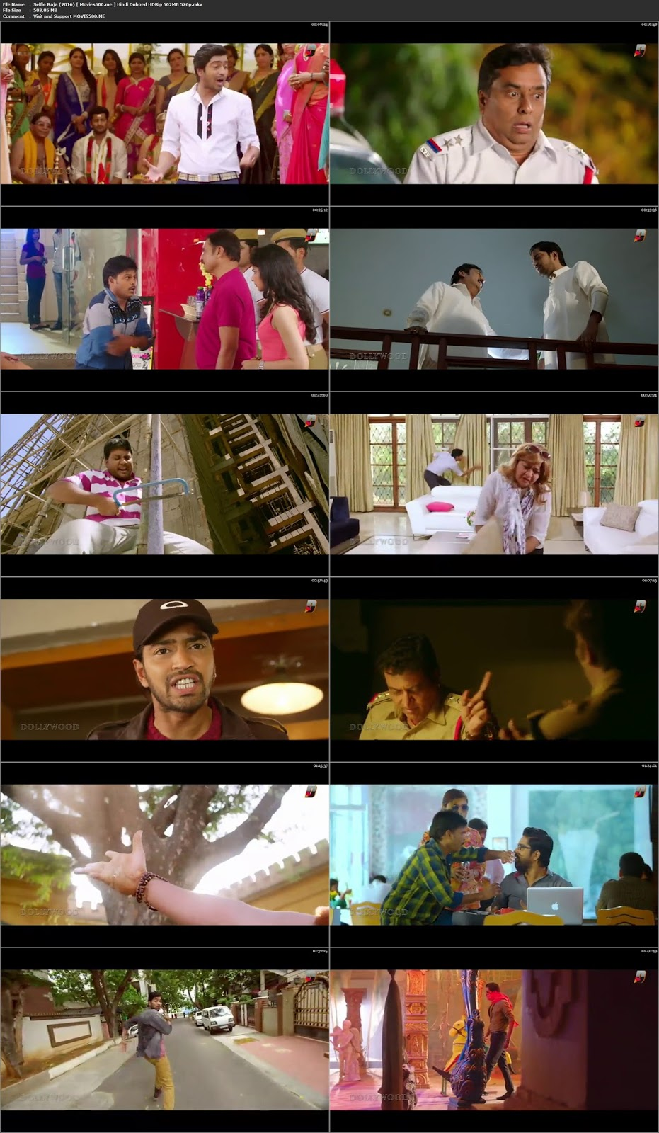 Selfie Raja 2016 Hindi Dubbed HDRip 502MB 576p