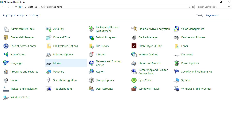 Windows 10 Creators Update - Cách làm ẩn hoặc chỉ hiển thị các mục trong Control Panel