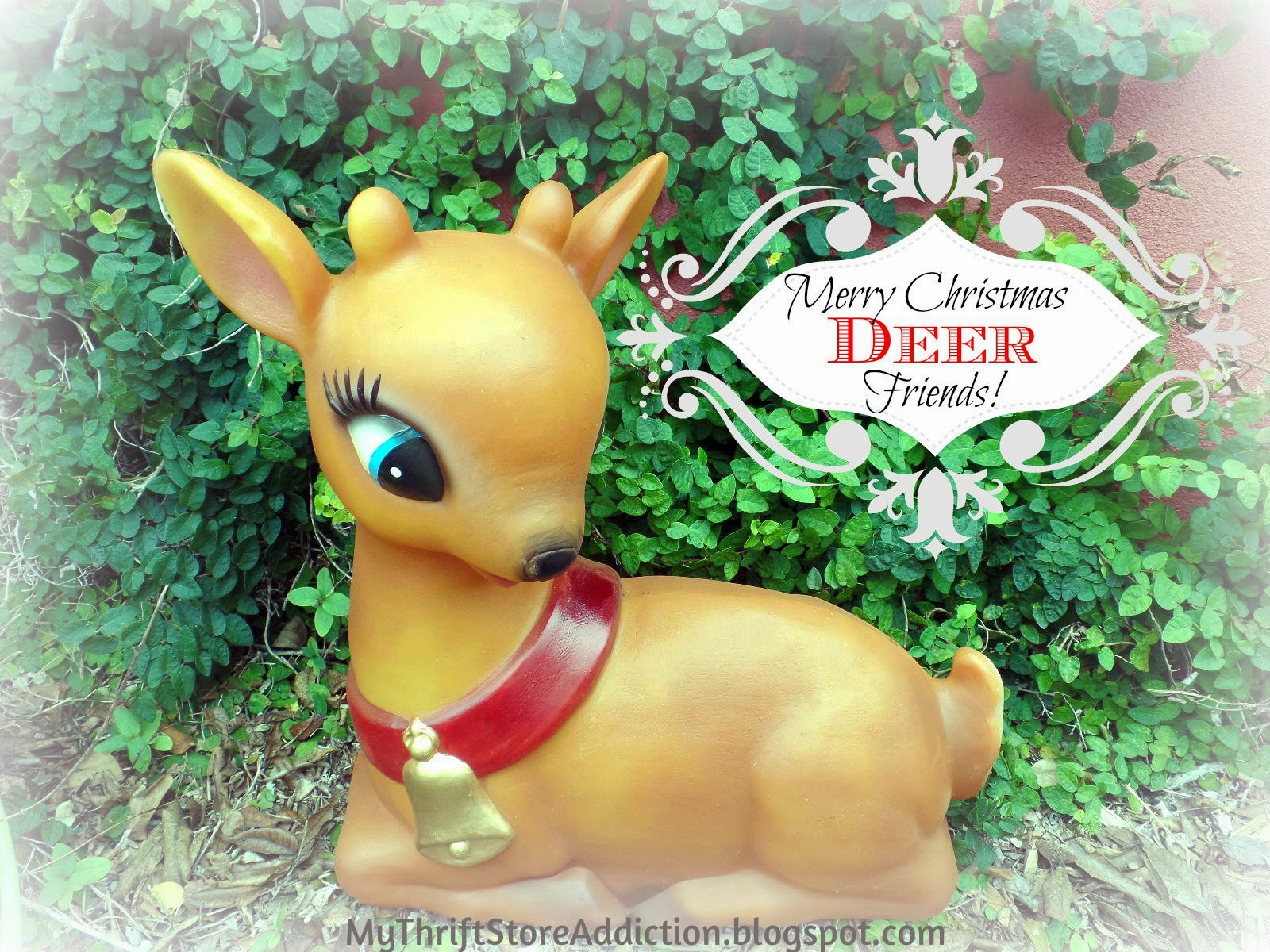 Vintage Christmas deer light