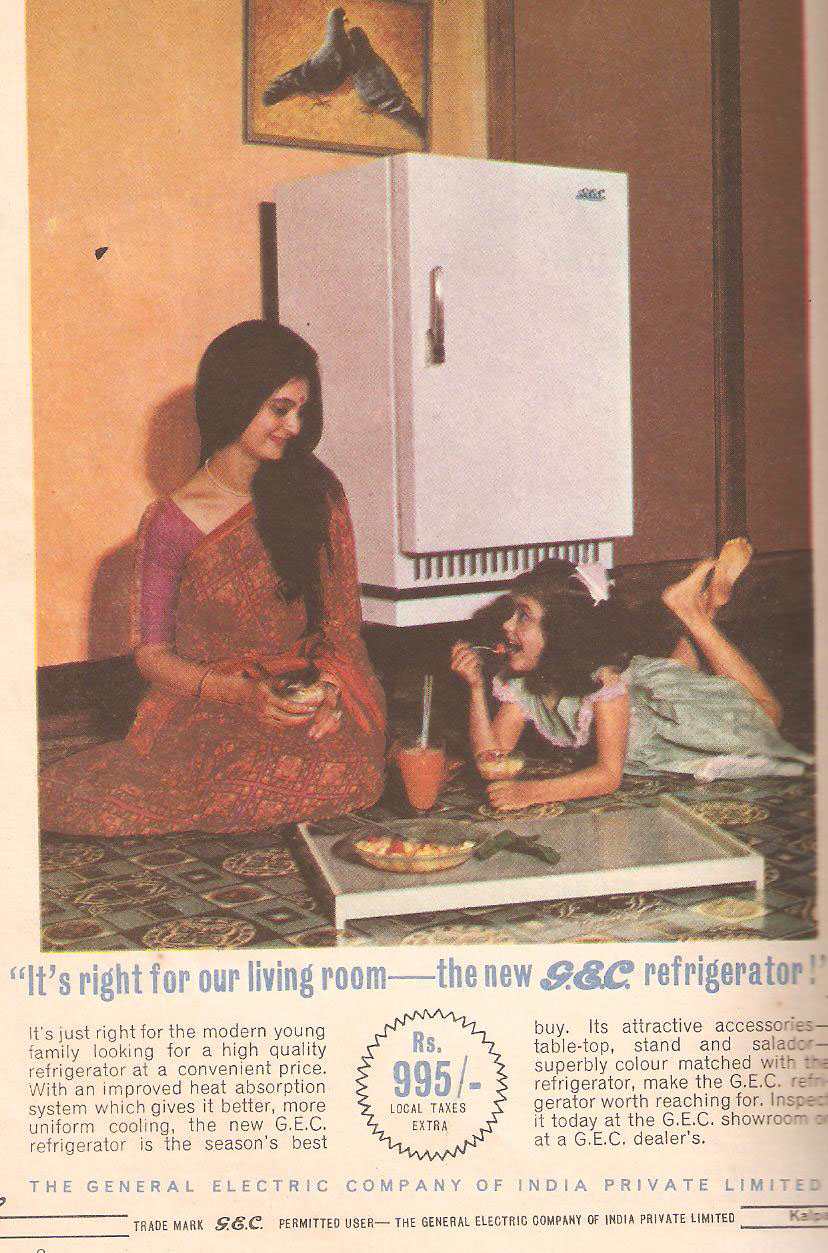 Vintage Magazine Ad Of The New GEC Refrigerator