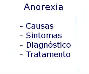 Anorexia causas sintomas diagnóstico tratamento prevenção riscos complicações