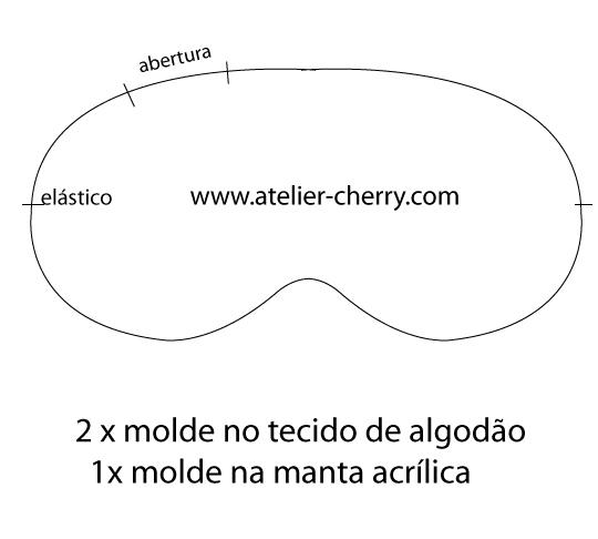 Atelier Cherry Mascara Para Dormir Molde E Passo A Passo