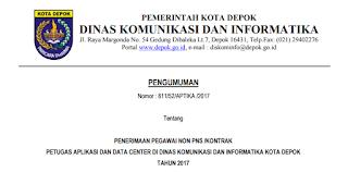 Lowongan Kerja Non PNS Non PNS Dinas Komunikasi dan Informatika Tahun 2017