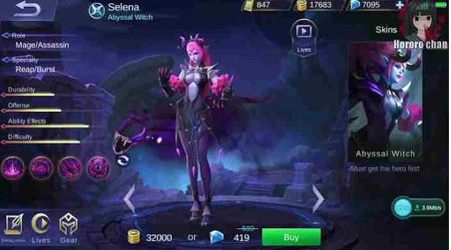 build item gear Selena Mobile Legends