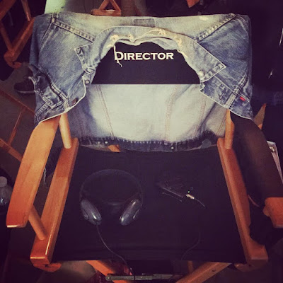 Troian Bellisario director's chair bts PLL episode 7x15