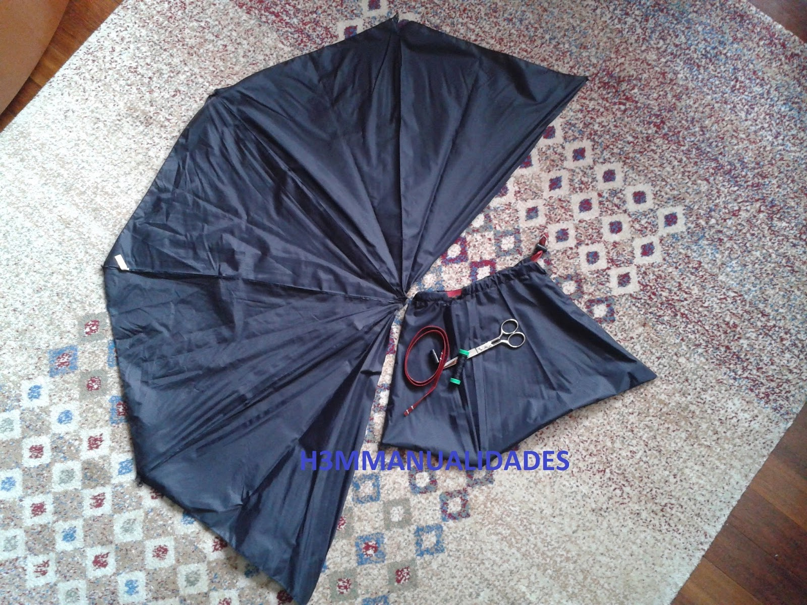 H3m manualidades bolsa con tela de paraguas - Tela de paraguas ...