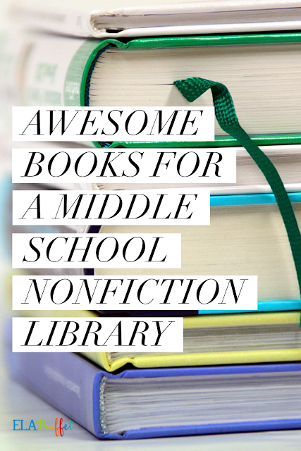 Middle school students LOVE nonfiction! Check out a this list of good book choices.