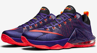 "59575d07466 THE SNEAKER ADDICT  Nike LeBron 12 Low ""Court Purple"" Sneaker ..."