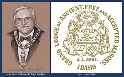 James A. Hensley. Past Grand Master. Grand Lodge of Idaho. by Travis Simpkins