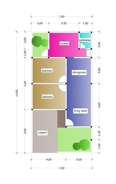 floor plan of beautiful house plan 17