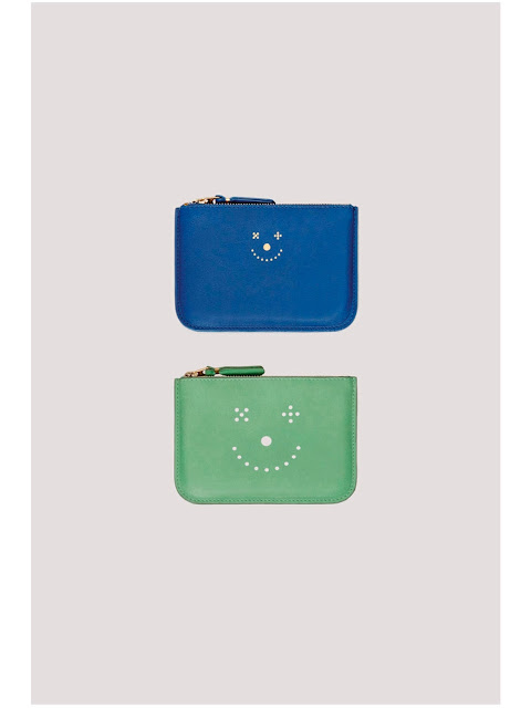 Jijibaba smile face blue wallet and green wallet