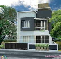 Small Plot Flat Roof House - Kerala Home Design And Floor
