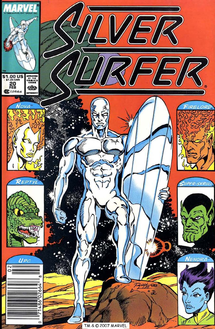 Read online Silver Surfer (1987) comic -  Issue #20 - 1