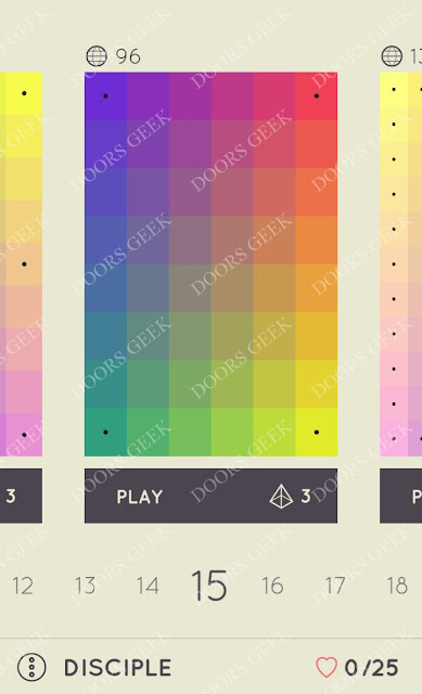 I Love Hue Disciple Level 15 Solution, Cheats, Walkthrough