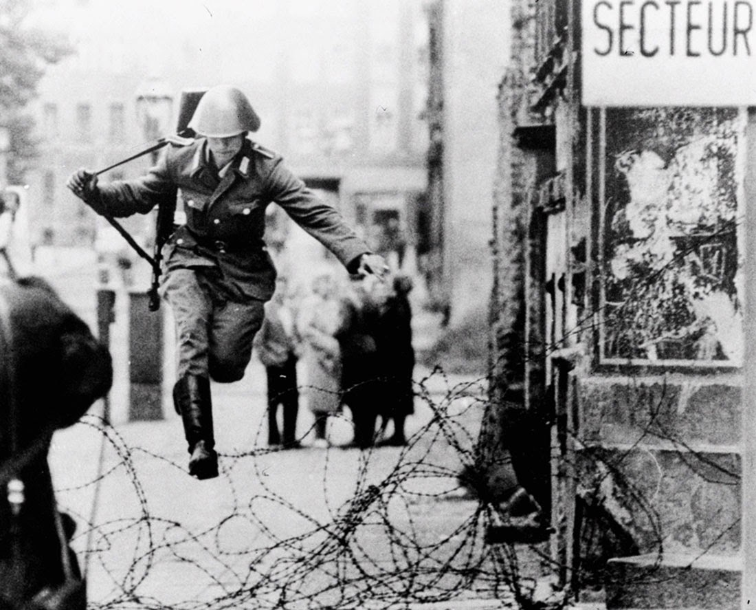 Conrad Schumann's defection to West Berlin, 1961.