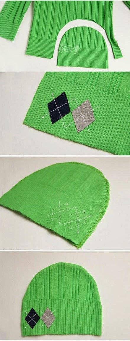 Как сшить детскую шапочку из трикотажа.  How to sew children's knitted cap.