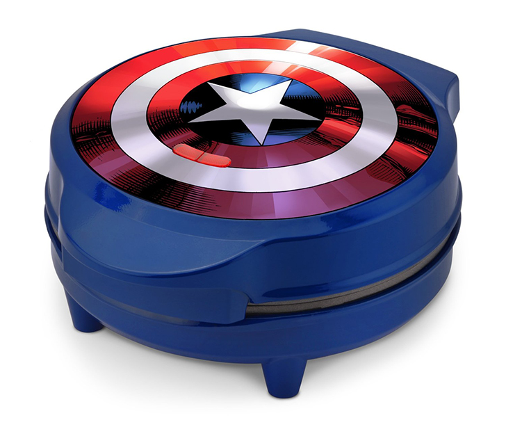 Marvels MVA-278 Captain America Shield Waffle Maker Helping You Bring Your Geekiness And Patriotism To The Kitchen