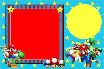 Super Mario Bros Free Printable Invitations
