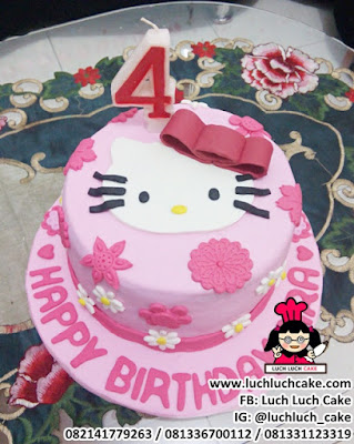 Kue Tart Fondant 2d Hello Kitty