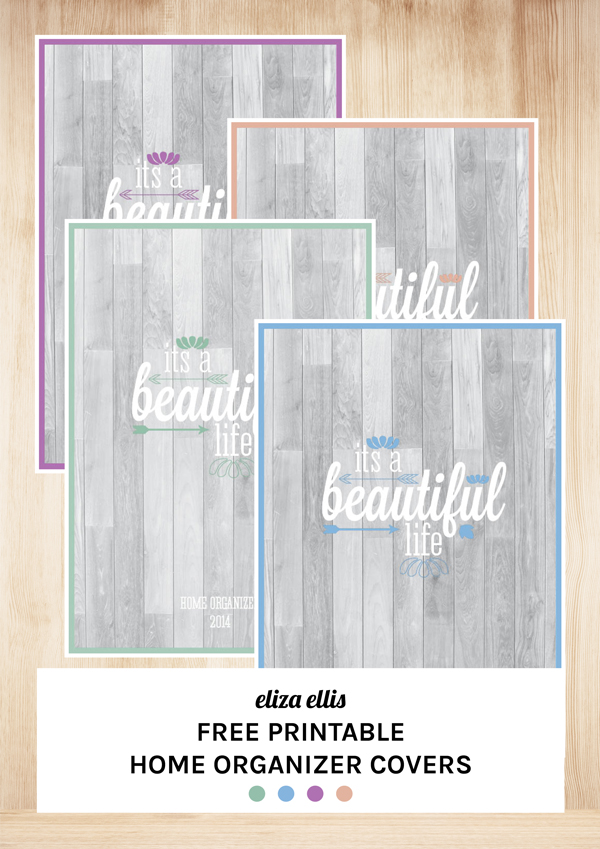 The Ultimate Free Printable Home Organizer - by Eliza Ellis
