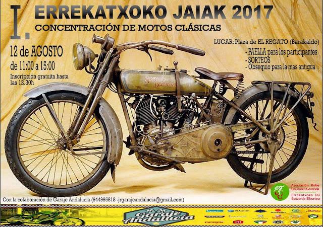 Cartel de la concentración de motos clásicas