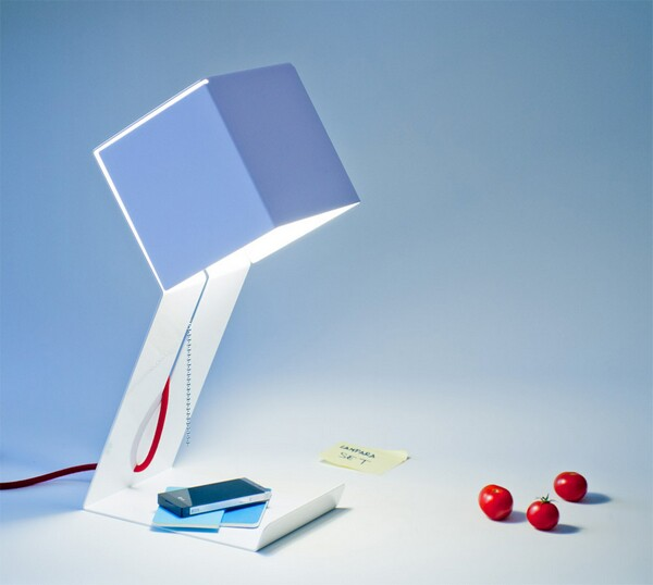 elegant aluminum lamp design