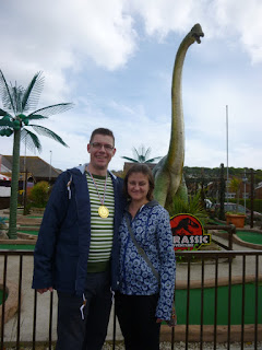 Jurassic Adventure Golf course in Swanage, Dorset