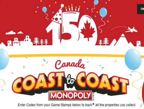 Mcdonalds Monopoly 150th Coast to Coast Edition