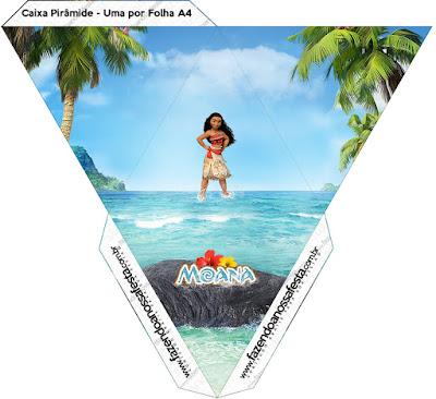Caja con forma de pirámide de Moana.