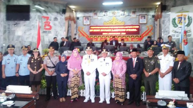 Pasca Dilantik Jadi Bupati H. Agung Ilmu Mangkunegara, S.STP, MH dan Wakil Bupati, H. Budi Utomo, SE, MM, Sidang Paripurna Bersama DPRD Lampung Utara
