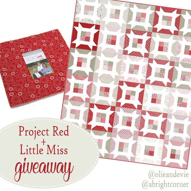 Little Miss quilt pattern and Project Red Layer Cake giveaway from A Bright Corner