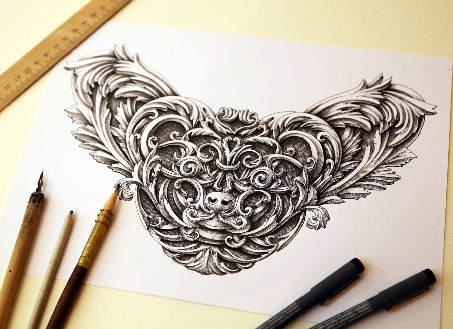 07-Little-Creature-Alex-Konahin-Ornate-Details-in-Animal-Drawings-www-designstack-co