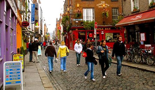 Dạo bước ở Dublin trong tour du lịch Châu Âu