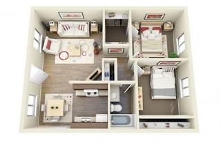 Kamar tamu terpisah untuk privasi anda