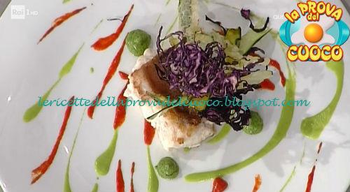 Trancio di scorfano con verdure in tre consistenze ricetta Ricchebono da Prova del Cuoco