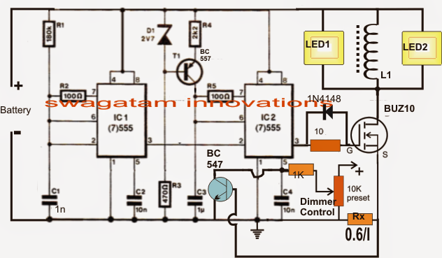 Underwater Led Boost Converter With Dimmer Circuit